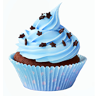 blue cupcake shrunk