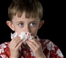 boy with nose bleed shrunk