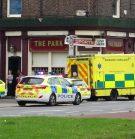 Ambulance attending stabbing